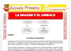 Ficha de La Imagen y el Simbolo para Tercero de Primaria