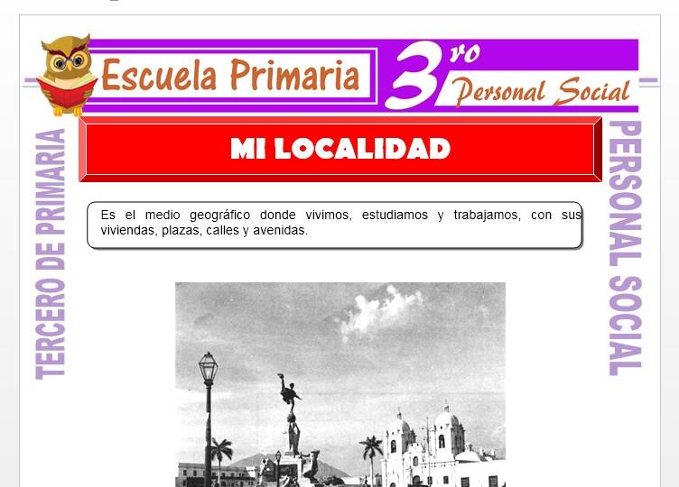 Ficha de La Localidad Donde Vivo para Tercero de Primaria