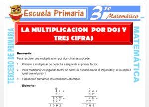 Ficha de La multiplicación de dos y tres Cifras para Tercero de Primaria