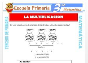 Ficha de La Multiplicación para Tercero de Primaria