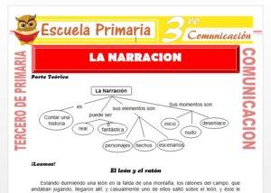 Ficha de La narración para Tercero de Primaria
