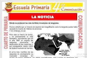 Ficha de La noticia para Cuarto de Primaria