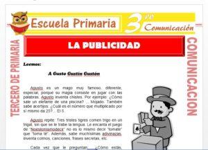 Ficha de La Publicidad para Tercero de Primaria