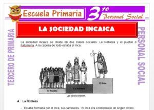 Ficha de La Sociedad Inca para Tercero de Primaria