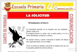 Ficha de La Solicitud para Cuarto de Primaria