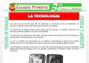 Ficha de La Tecnologia para Tercero de Primaria