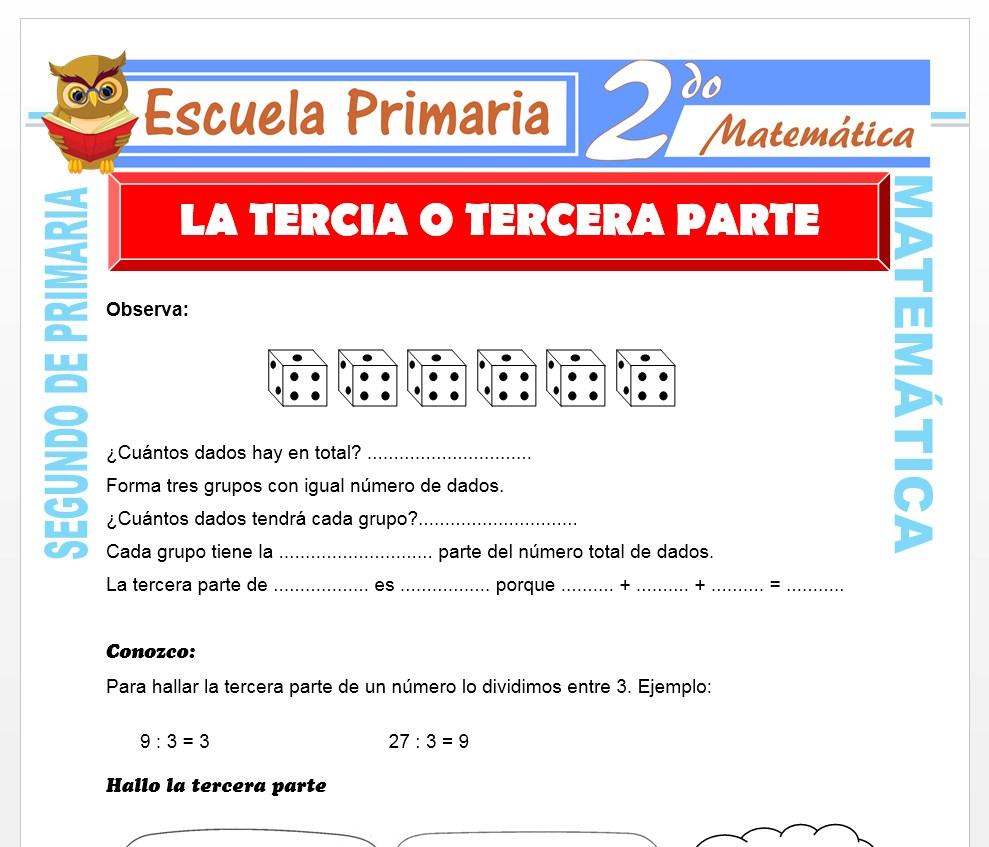 Ficha de La Tercia para Segundo de Primaria