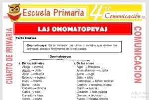 Ficha de Las Onomatopeyas para Cuarto de Primaria