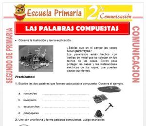 Ficha de Las Palabras Compuestas para Segundo de Primaria