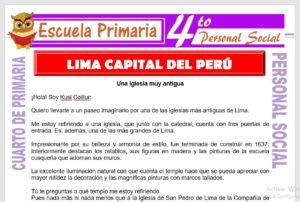 Ficha de Lima Capital de Perú para Cuarto de Primaria