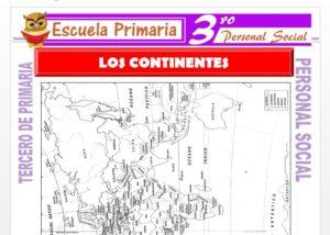 Ficha de Los Continentes para Tercero de Primaria