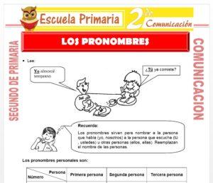Ficha de Los Pronombres para Segundo de Primaria