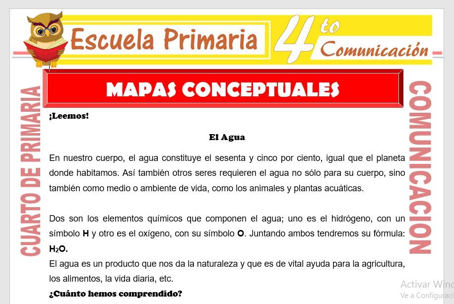 Ficha de Mapas Conceptuales para Cuarto de Primaria