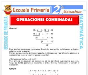 Ficha de Operaciones Combinadas para Segundo de Primaria