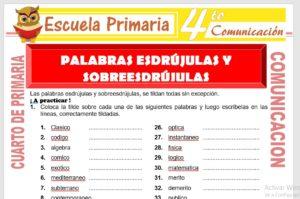 Ficha de Palabras Esdrújulas y Sobreesdrújulas para Cuarto de Primaria