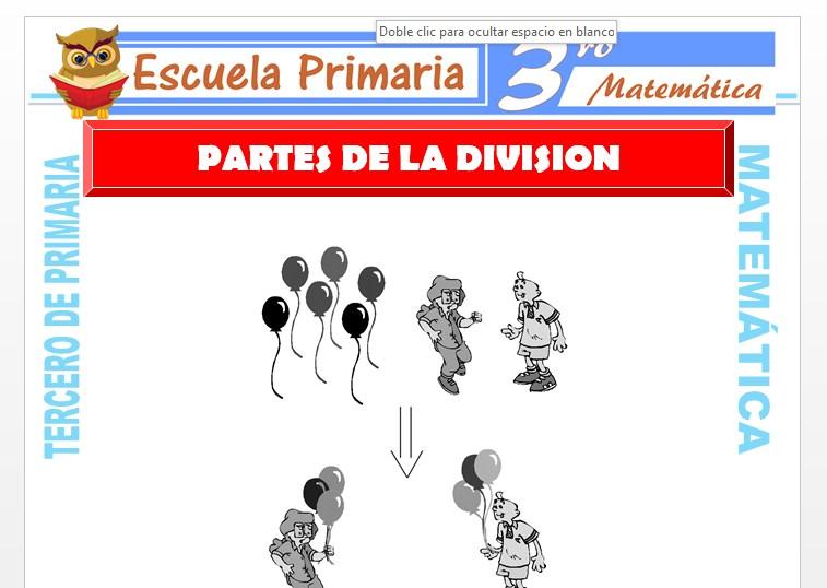 Ficha de Partes de la División para Tercero de Primaria