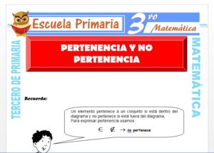 Ficha de Pertenecía y no pertenencia para Tercero de Primaria
