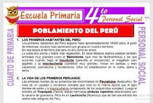 Poblamiento del Perú para Cuarto de Primaria