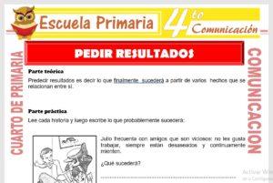 Ficha de Predecir Resultados para Cuarto de Primaria