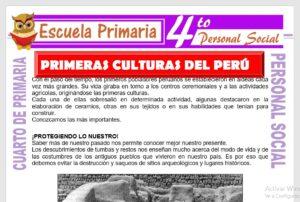 Ficha de Primeras Culturas del Perú para Cuarto de Primaria