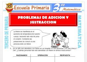Ficha de Problemas de Adición y Sustracción para Tercero de Primaria