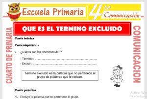 Ficha de Que es El Término Excluido para Cuarto de Primaria