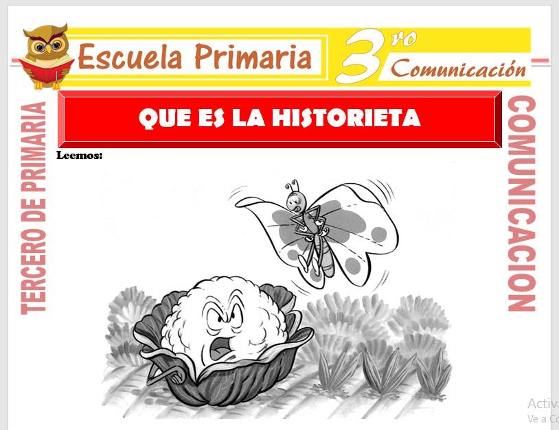 Ficha de Que es la Historieta para Tercero de Primaria