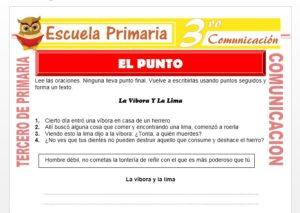 Ficha de Que es el Punto para Tercero de Primaria