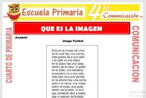 Ficha de Que es La Imagen para Cuarto de Primaria