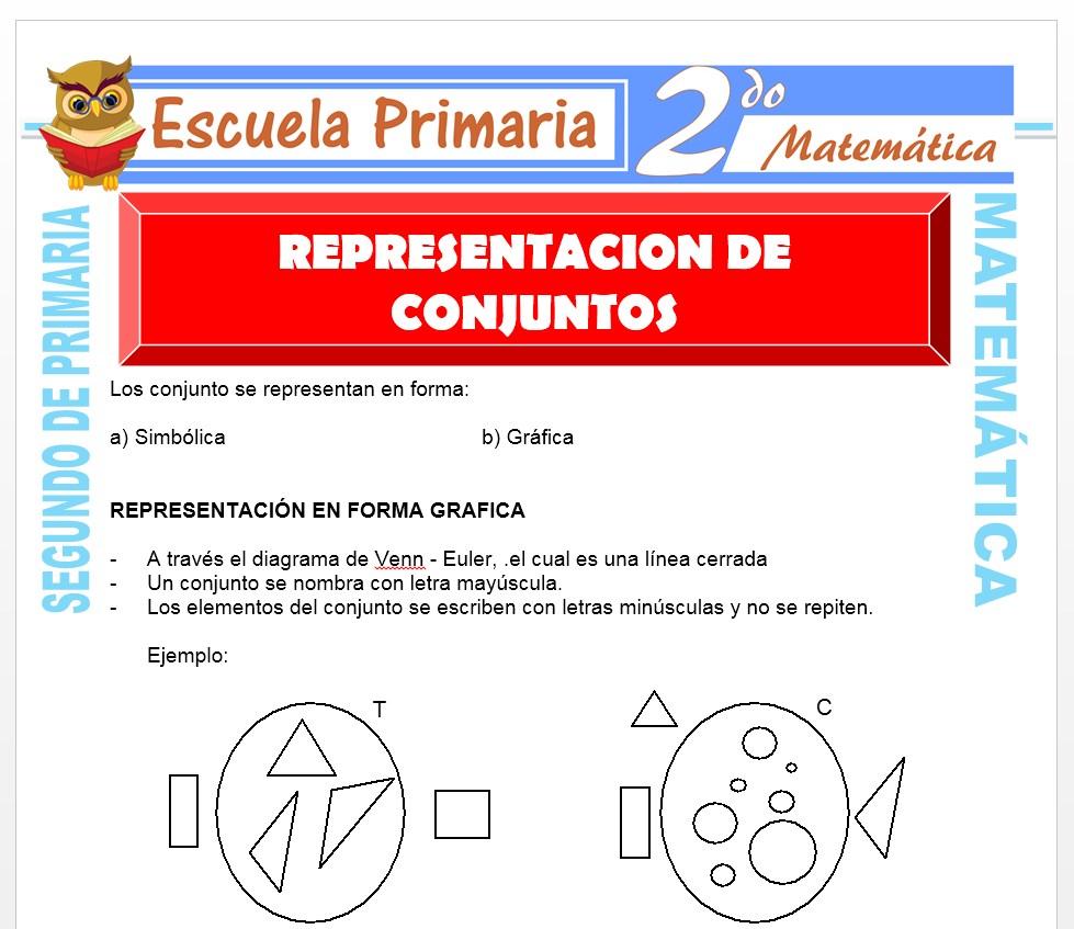 Ficha de Representación de Conjuntos para Segundo de Primaria