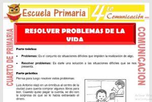 Ficha de Resolver Problemas para Cuarto de Primaria