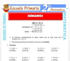 Ficha de Sumamos para Segundo de Primaria