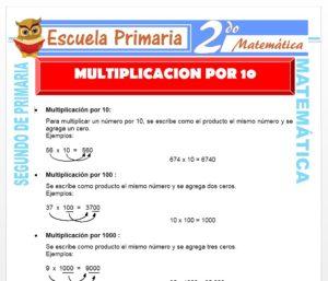 Ficha de Tabla de Multiplicar de 10 para Segundo de Primaria