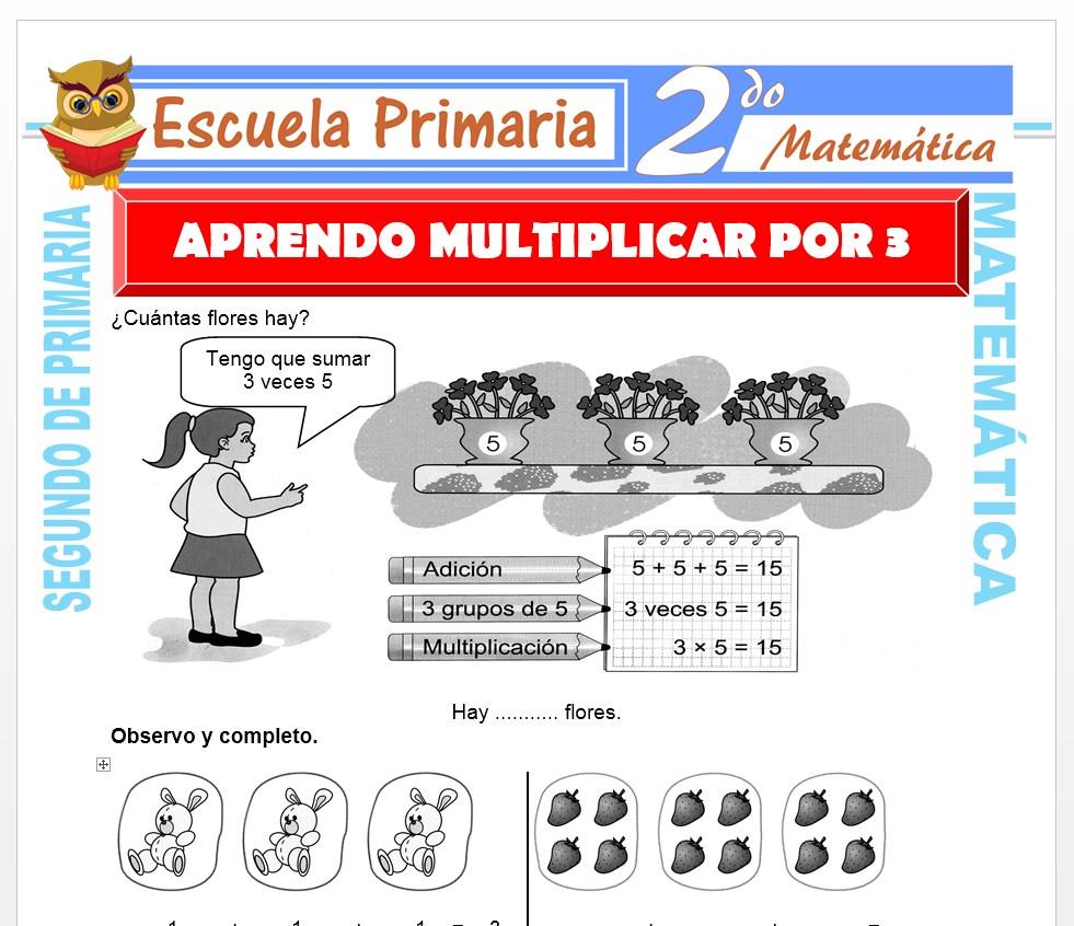 Ficha de Tabla de Multiplicar del 3 para Segundo de Primaria