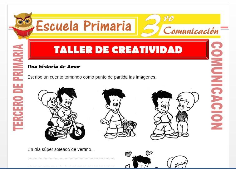 Ficha de Taller de Creatividad para Tercero de Primaria