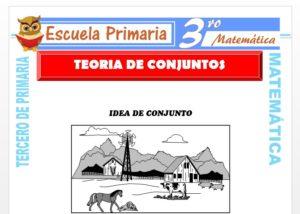 Ficha de Teoría de Conjuntos para Tercero de Primaria