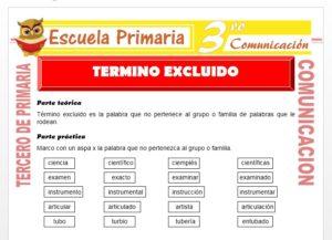 Ficha de Término excluido para Tercero de Primaria