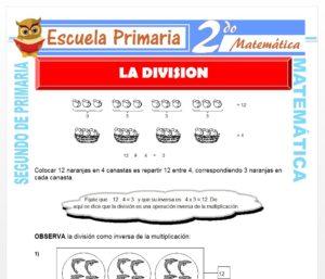 Ficha de Términos de la División para Segundo de Primaria