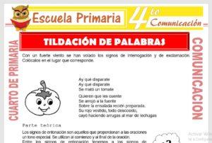 Ficha de Tildación de Palabras Interrogativas y Exclamativas para Cuarto de Primaria