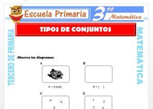 Ficha de Tipos de Conjuntos para Tercero de Primaria