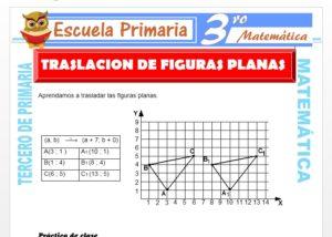 Ficha de Traslación de Figuras planas para Tercero de Primaria