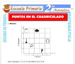 Ficha de Ubicamos puntos en el Plano para Segundo de Primaria