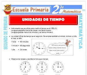 Ficha de Unidad de Tiempo para Segundo de Primaria