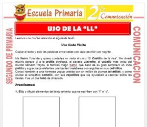 Ficha de Uso de la LL para Segundo de Primaria