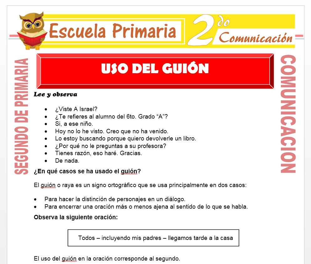 Ficha de Los Signos de Interrogación para Segundo de Primaria
