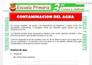Ficha de Contaminacion de Agua para Tercero de Primaria