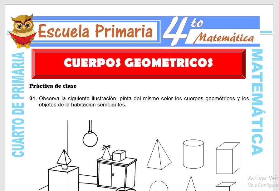Ejercicios de Cuerpos Geometricos para Cuarto de Primaria ...