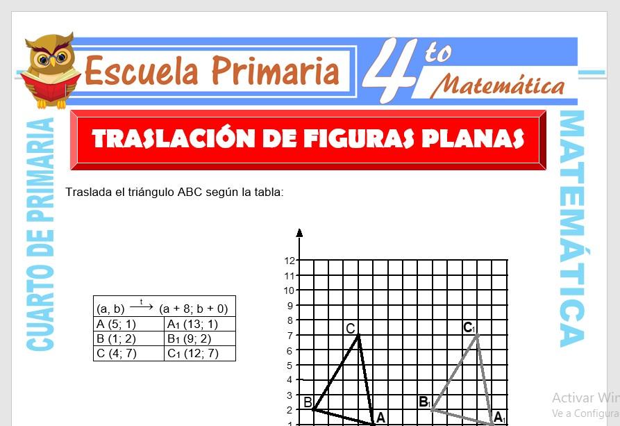 Traslación De Figuras Planas Para Cuarto De Primaria Escuela Primaria