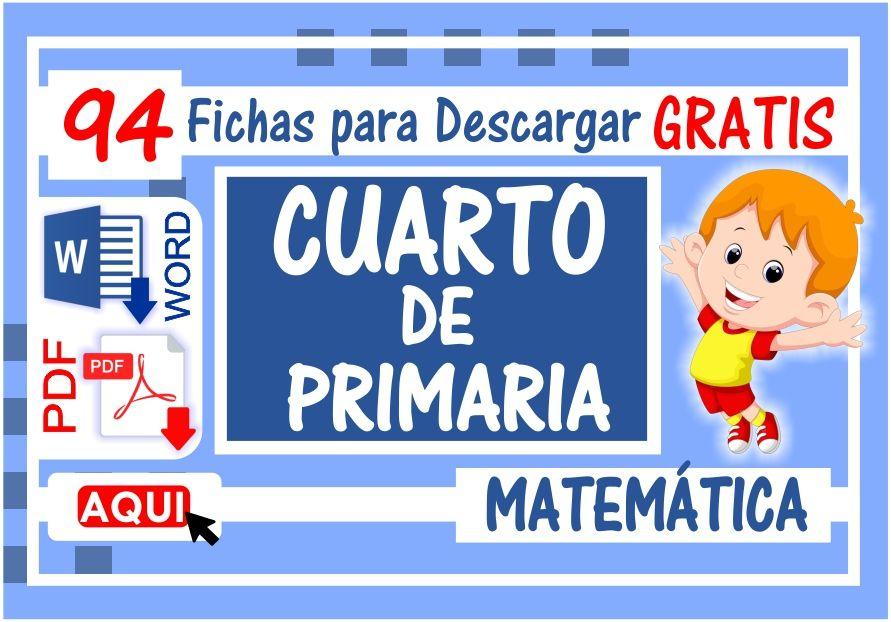 Matematica para Cuarto de Primaria