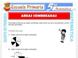 Modelo de la Ficha de Áreas Sombreadas para Quinto de Primaria